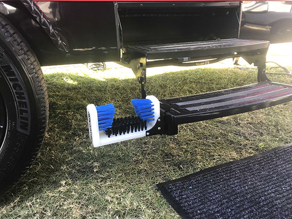 Shoe cleaning attachment is quick and easy to install